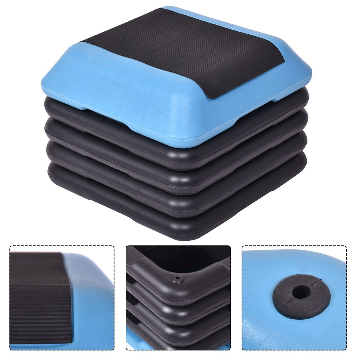 "New MTN-G 16""Aerobic Step System 4 Risers Fitness Exercis..."