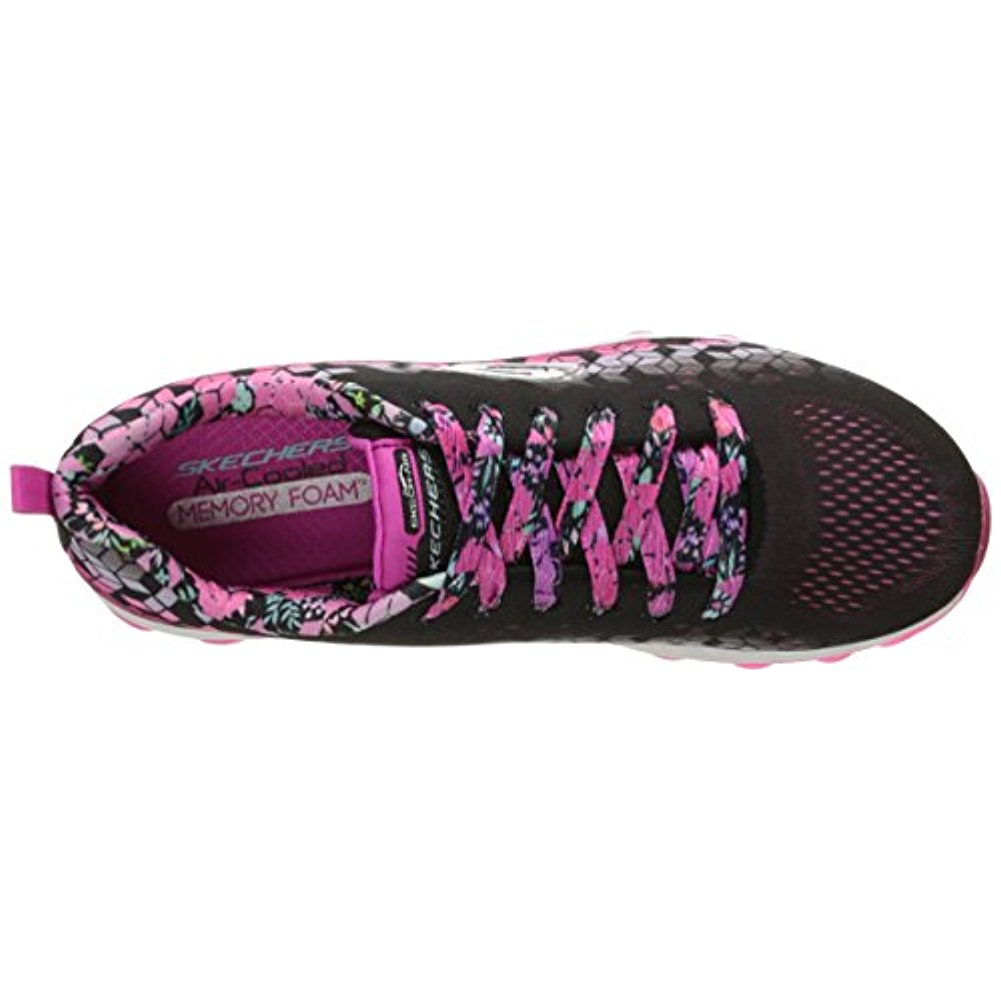 Skechers 80135L BKHP Girl's Skech-Air - Fade N Fly - Walking Shoes