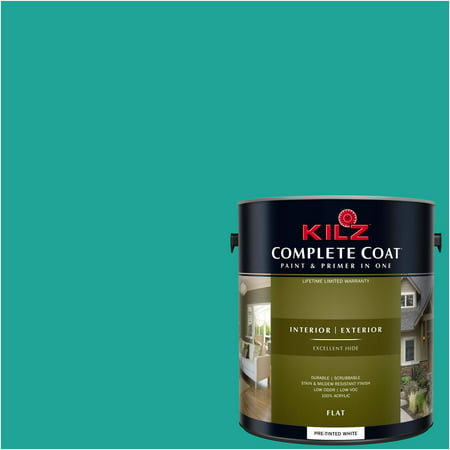 KILZ COMPLETE COAT Interior/Exterior Paint & Primer in One #RH150 Deep - Teal Paint