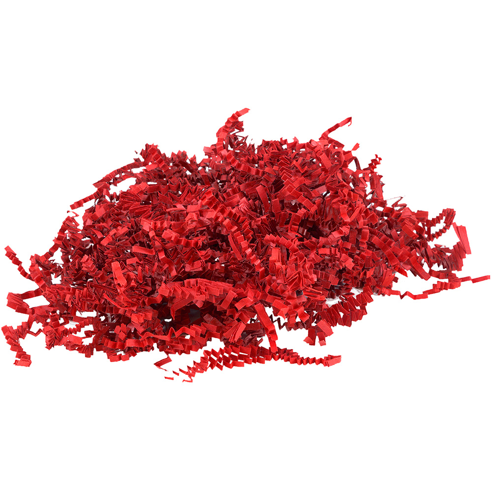 JAM Paper Shred Tissue Paper Krinkeleen, 2 oz, Red, Sold Individually