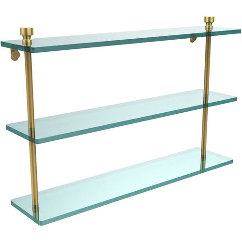 "Foxtrot Collection 22"" Triple Tiered Glass Shelf (Build to Order)"
