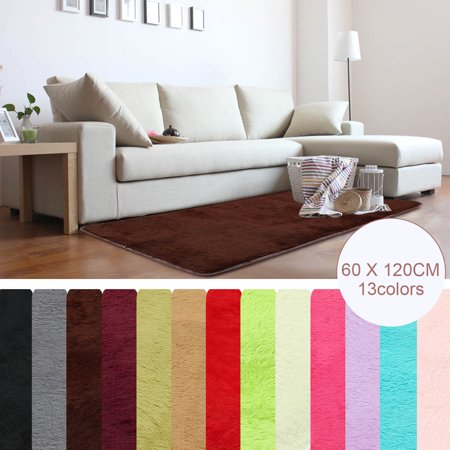 "23.62x47.2"" Modern Soft Fluffy Floor Rug Anti-skid Shag Shaggy Area Rug Bedroom Living Dining Room Carpet Yoga Mat Child Play Mat"