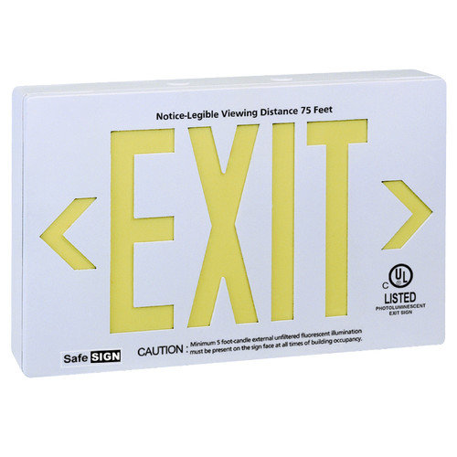 Royal Pacific Photo Luminescent Exit in White