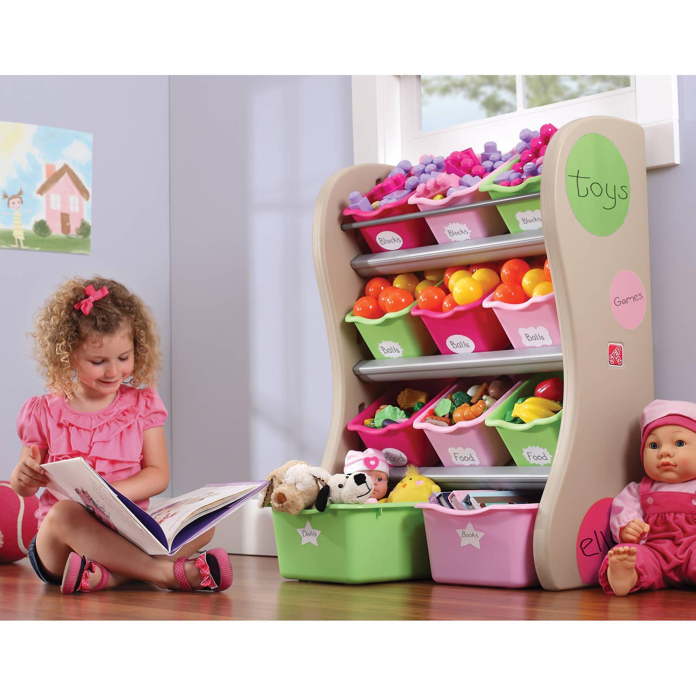 sc 1 st  Walmart & Step2 Storage Bin Organizer Pink - Walmart.com