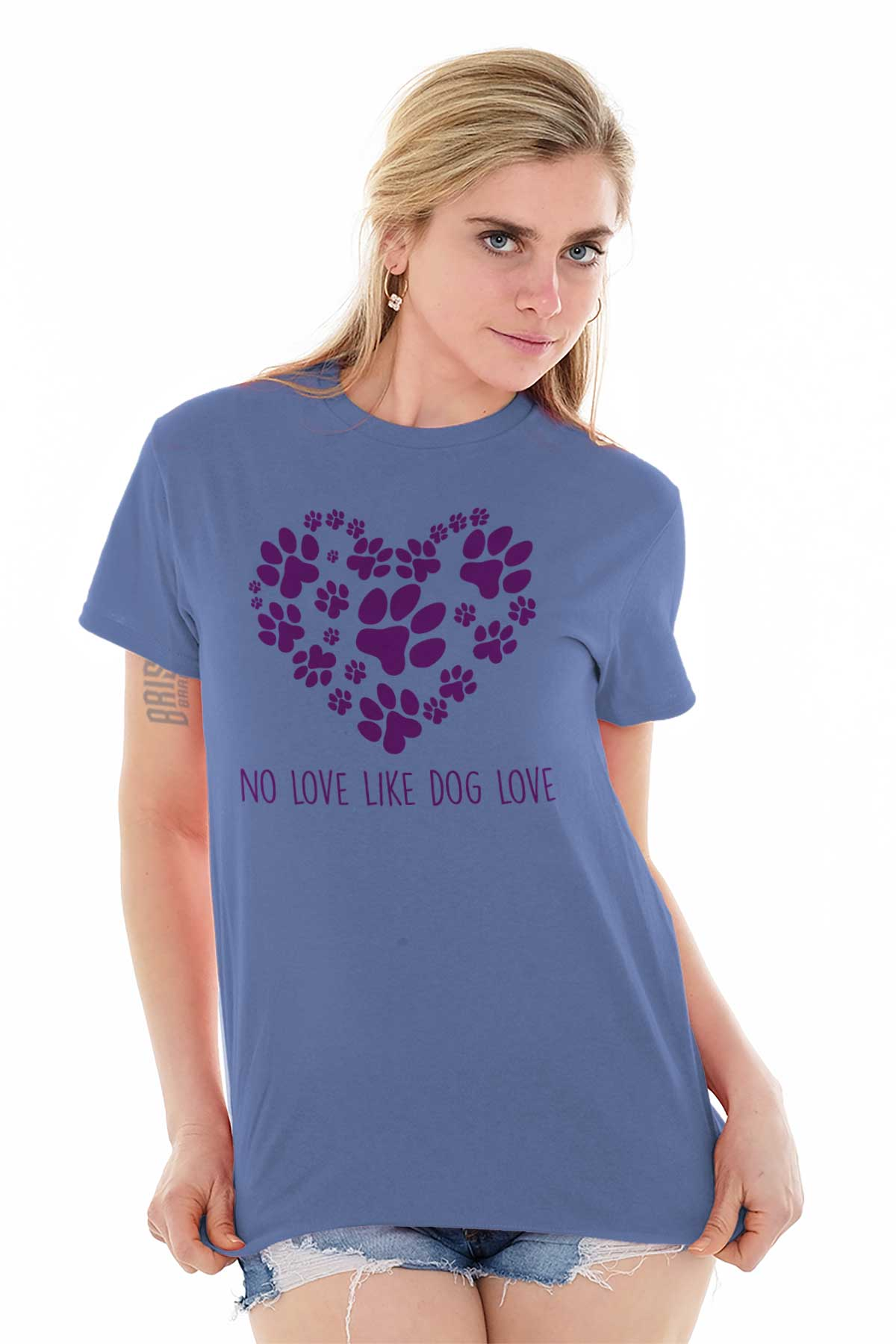 All You Need is Love Women/'s V-Neck T-Shirt Dog Best Friend Doggie Paw Adopt