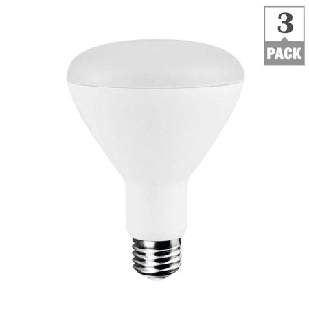 65w Equivalent Soft White 2700k Br30 Dimmable Led Light Bulb 3 Pack
