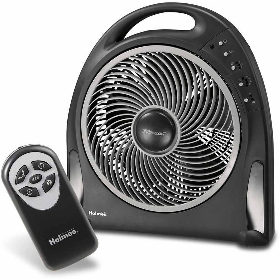 "Holmes 12"" Blizzard Remote Control Power Fan, Black"