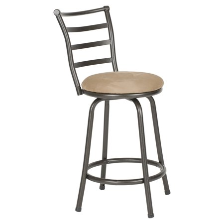 Roundhill Round Seat Bar/Counter Height Adjustable Metal Bar Stool