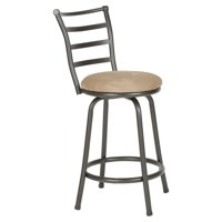 Roundhill Round Seat Bar/Counter Height Adjustable Metal Bar Stool