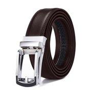 Xhtang 2017 New Style Comfort Click Belt Ratchet Leather Dress Belts for Men 30mm Wide Brown And Black Leather Belt 125cm(Suit for 43'' Waist)