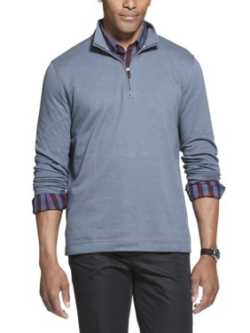 Geoffrey Beene Men's Big and Tall Quarter Zip Twill Pullover