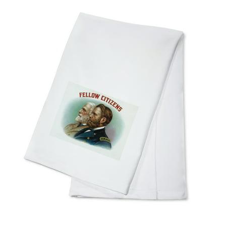 - Fellow Citizens Brand Cigar Box Label (100% Cotton Kitchen Towel)
