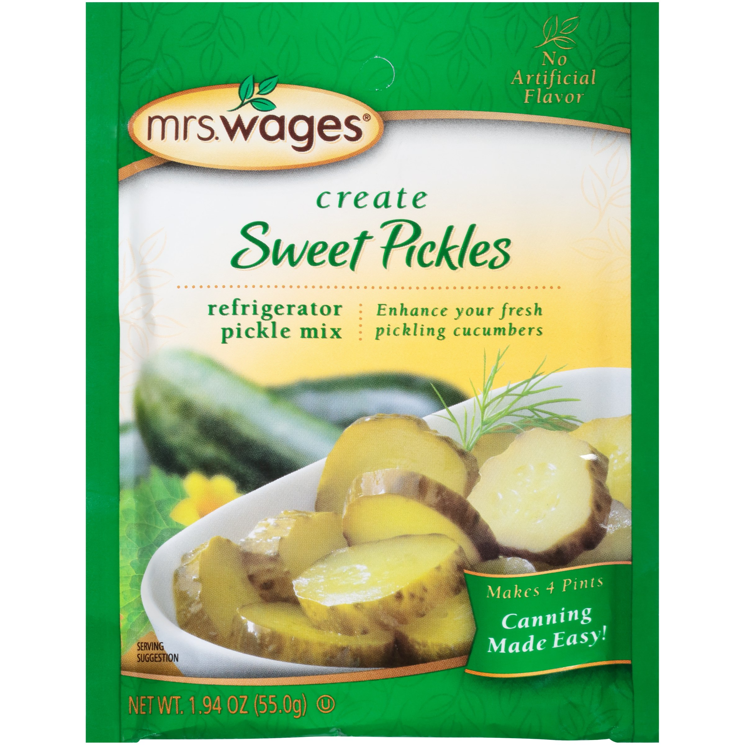 Mrs. Wages® Create Sweet Pickles Refrigerator Pickle Mix 1.94 oz. Packet