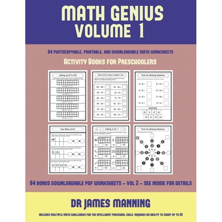 Activity Books for Preschoolers (Math Genius Vol 1) : This Book Is Designed for Preschool Teachers to Challenge More Able Preschool Students: Fully Copyable, Printable, and (Following Directions Activities For Middle School Students)