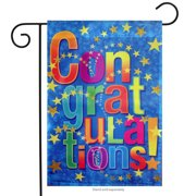 "Congratulations Stars Garden Flag Party Celebration Diploma Hat 12"" x 18"""