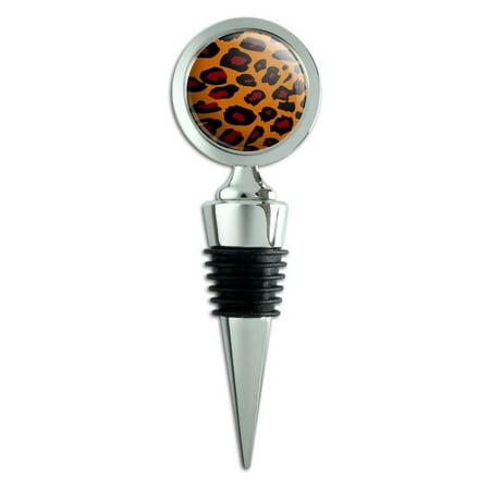 Leopard Animal Print Wine Bottle Stopper (Animal Stopper)