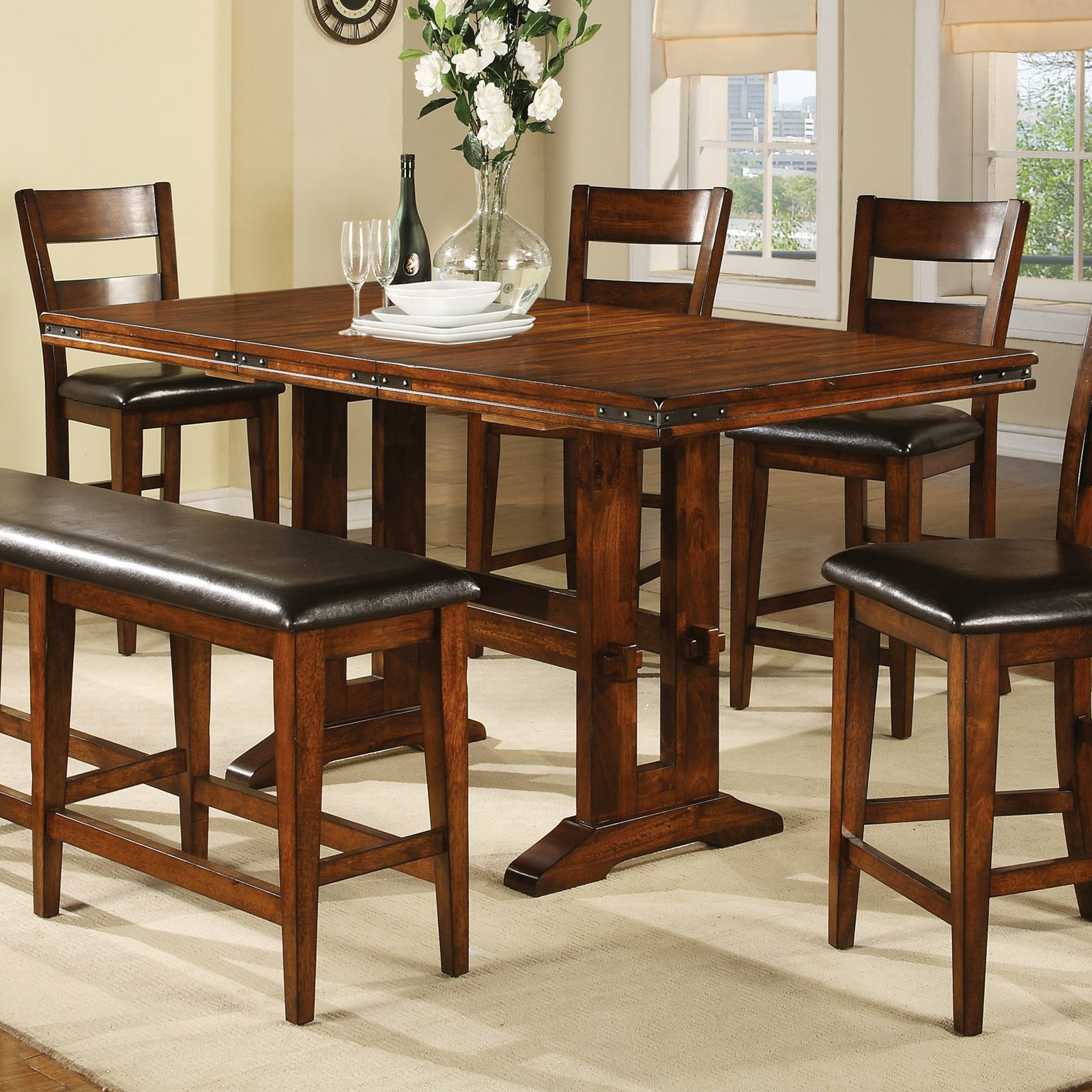 Winners Only DMGT3678 Mango 78 In Tall Table With 18 Butterfly Leaf