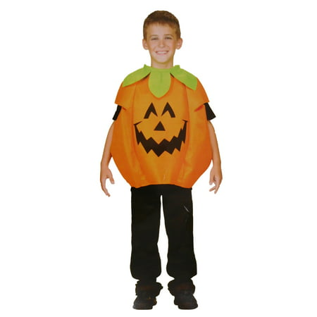 Boys & Girls Scary Face Pumpkin Child Costume Halloween Body Tunic (Scary Halloween Pumpkin Eyes)