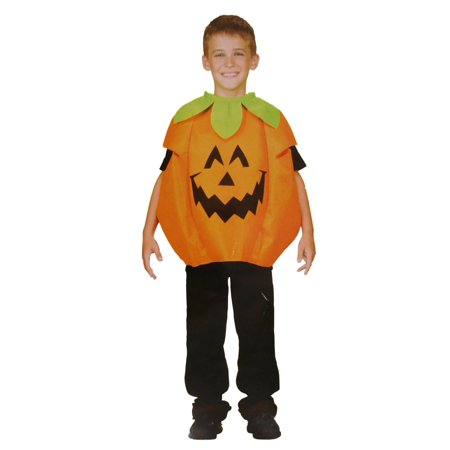 Boys & Girls Scary Face Pumpkin Child Costume Halloween Body Tunic](Scary Cartoon For Kids)