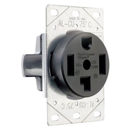 New Pass & Seymour Dryer Outlet Receptacle NEMA 14-30R 30A 125/250V 3864 (Nema 6 30r Receptacle)
