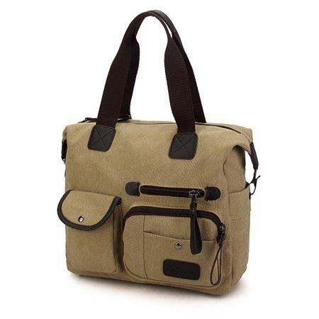Vintage Canvas Bag, Men Women Shoulder Messenger Bags women bags Handbag Tote, 36 x 28 x 10 cm for Travelling Shopping - image 1 de 2