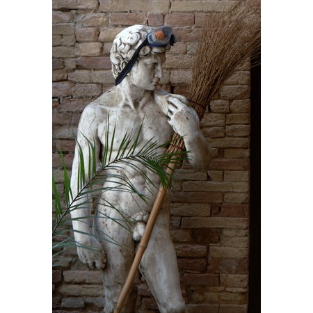 Canvas Print Head Adonis Man Statue Sculpture Art Face Figure Stretched Canvas 10 x