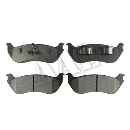 AAL Premium Ceramic Rear BRAKE PADS For 2003 2004 2005 2006 2007 2008 2009 2010 FORD EXPLORER EDDIE BAUER (Complete set 4