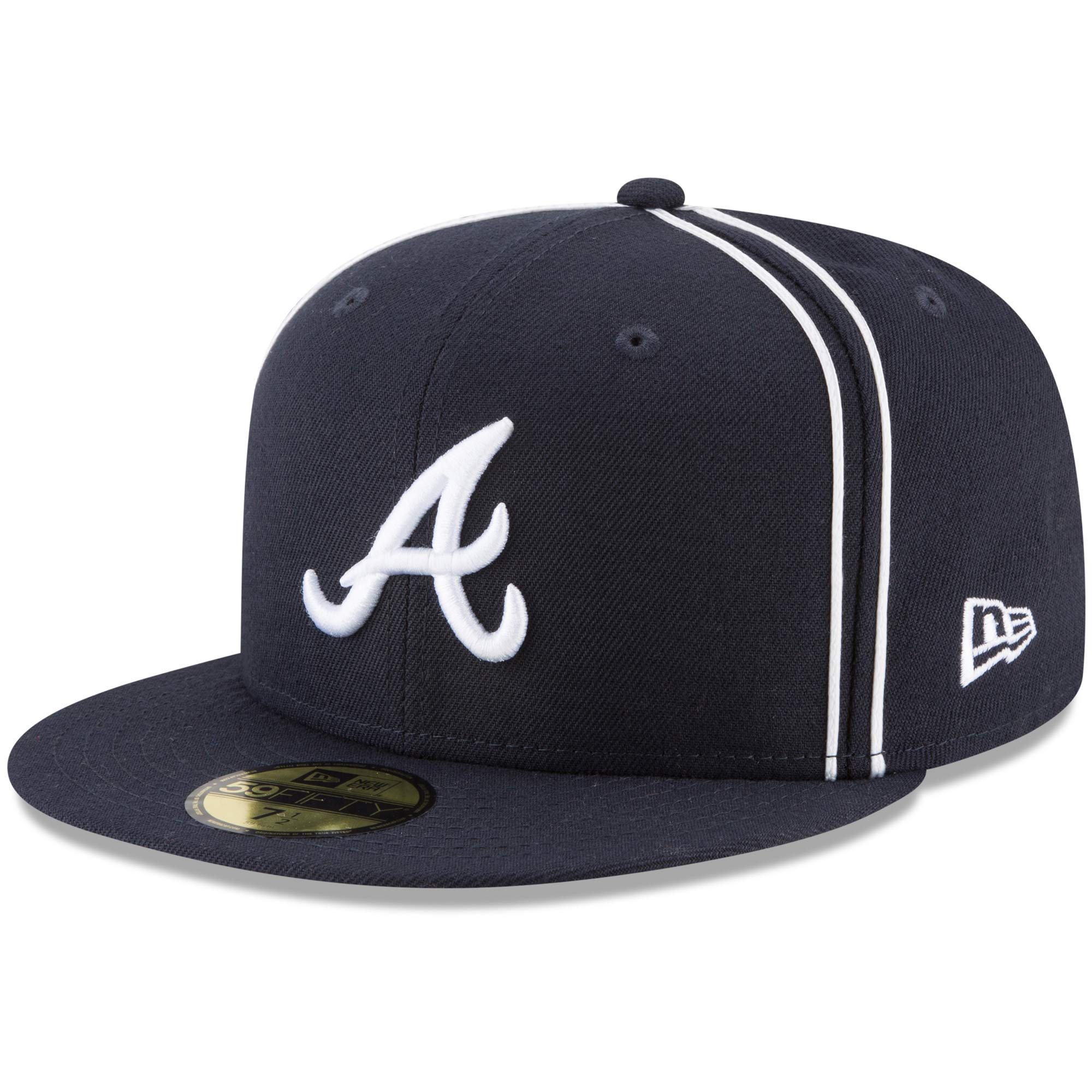 Atlanta Braves New Era Y2K Soutache 59FIFTY Fitted Hat - Navy