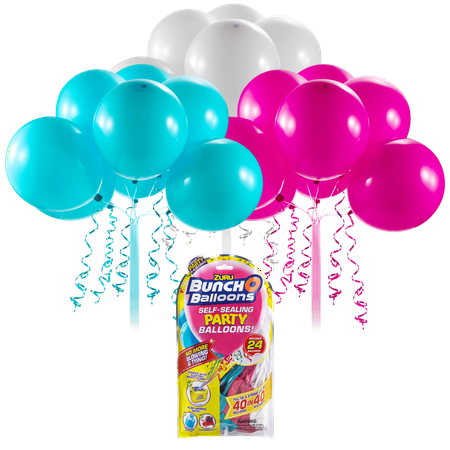 Pink Cowgirl Party Supplies (Bunch O Balloons Self-Sealing Latex Party Balloons, Pink, Teal, & White, 11in,)