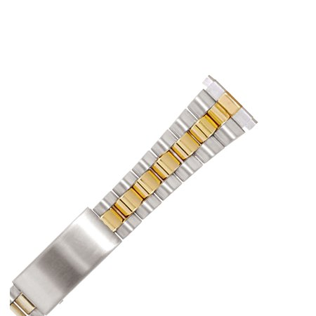 Best Hadley Roma LB5203T 10-14mm Two Tone Gold PVD Stainless Link Bracelet Watch Band deal