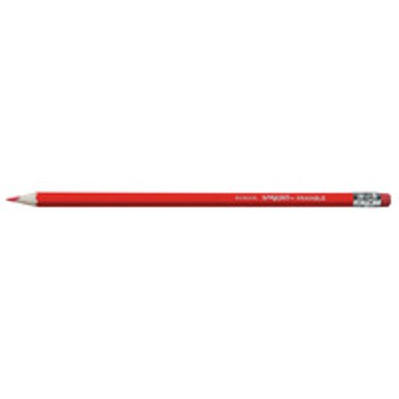 Red Ribbon Week Pencils (School Smart Grading Pencil with Eraser, Thin Tip, Red, Pack of)