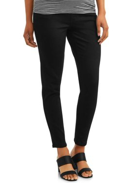 Maternity Time and Tru Skinny Jean with Full Panel (Black)