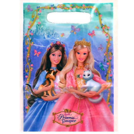 Barbie 'Princess and the Pauper' Favor Bags (8ct) - Barbie Party Favors