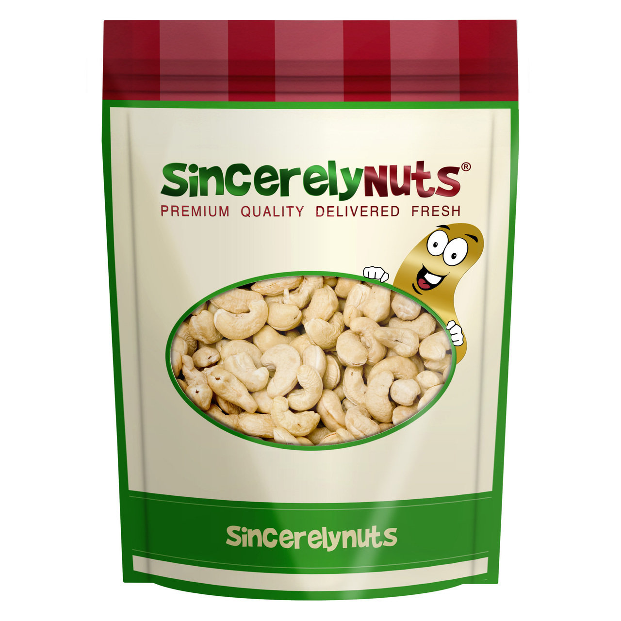 Sincerely Nuts Organic Cashews Raw Whole, 2 LB Bag