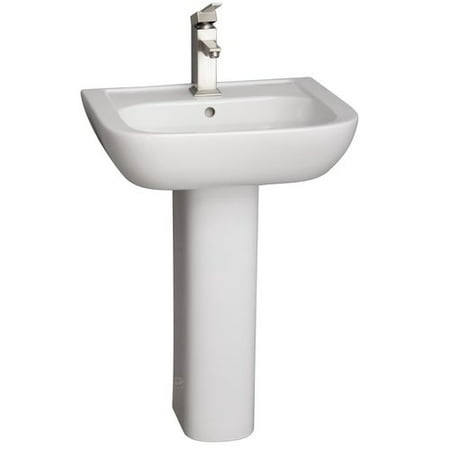 Barclay Caroline Lavatory Vitreous China Pedestal Bathroom Sink with Overflow Barclay Lavatory Bowl