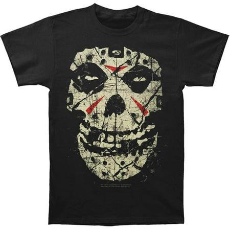 Misfits Men's  Fiend Crystal Lake Slim Fit T-shirt Black (Misfits Fiend Mask)