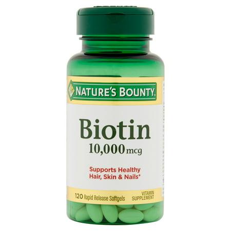 800 Mcg 120 Tabs (Nature's Bounty Biotin 10,000 mcg, 120 Softgels )