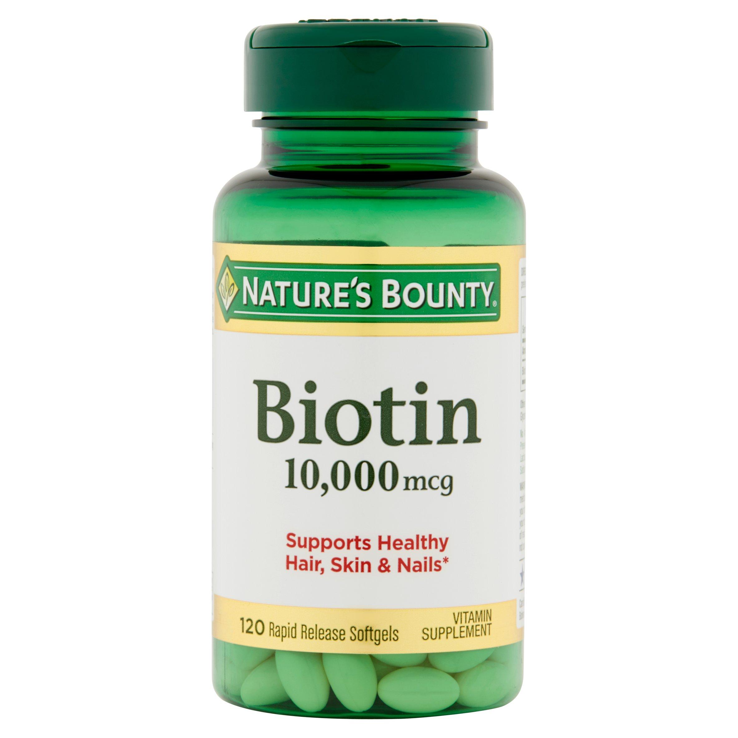 Nature's Bounty Biotin 10,000 mcg, 120 Softgels