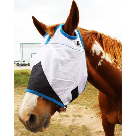 Draft Horse Fly Mask - Equine Horse Fly Mask Summer Spring Airflow Mesh UV Mosquitoes  73263