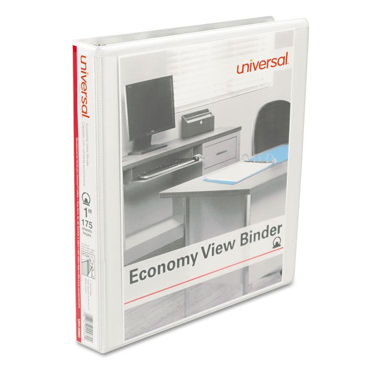 """Economy Round Ring View Binder, 1"""" Capacity, White, 12/carton"""