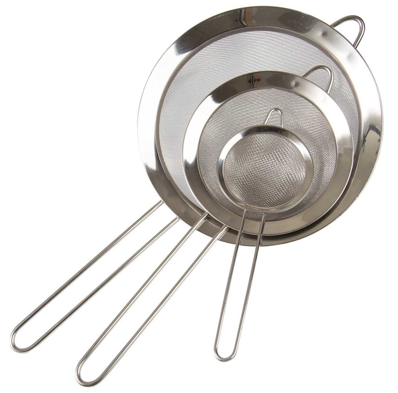 Click here to buy Set of 3- Fine Mesh Stainless Steel Strainers Premium Quality Colander Sieve with Handle By Kitchen Winners by Kitchen Winners.