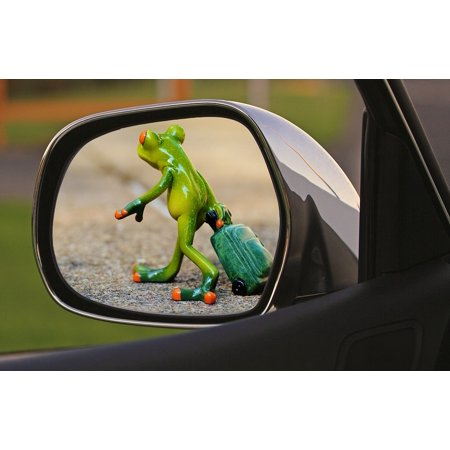 Canvas Print Sad Farewell Luggage Frog Trolley Time to Go Stretched Canvas 10 x 14