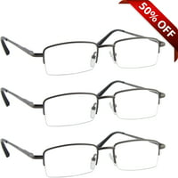 Tuvision Readers Lightweight +1.50 Reading Glasses for Men and Women, Gunmetal
