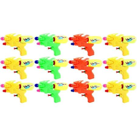 "Set of 12 Mini Blaster 6.5"" Single Nozzle Water Gun, Super Blaster Soaker (Colors May Vary)"