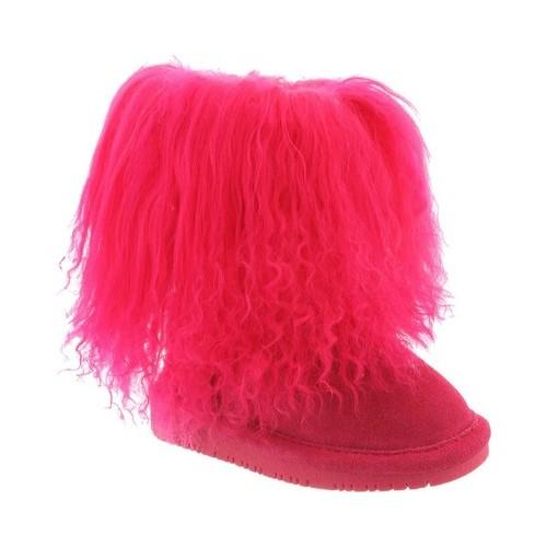 bearpaw kid's boo toddler boots pink suede wool sheepskin 9 toddler m by Bearpaw