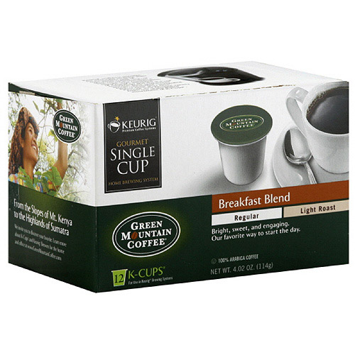 Green Mountain Coffee Roasters Breakfast Blend Light Roast K-Cups Coffee, 4.02 oz, 12ct  (Pack of 6)