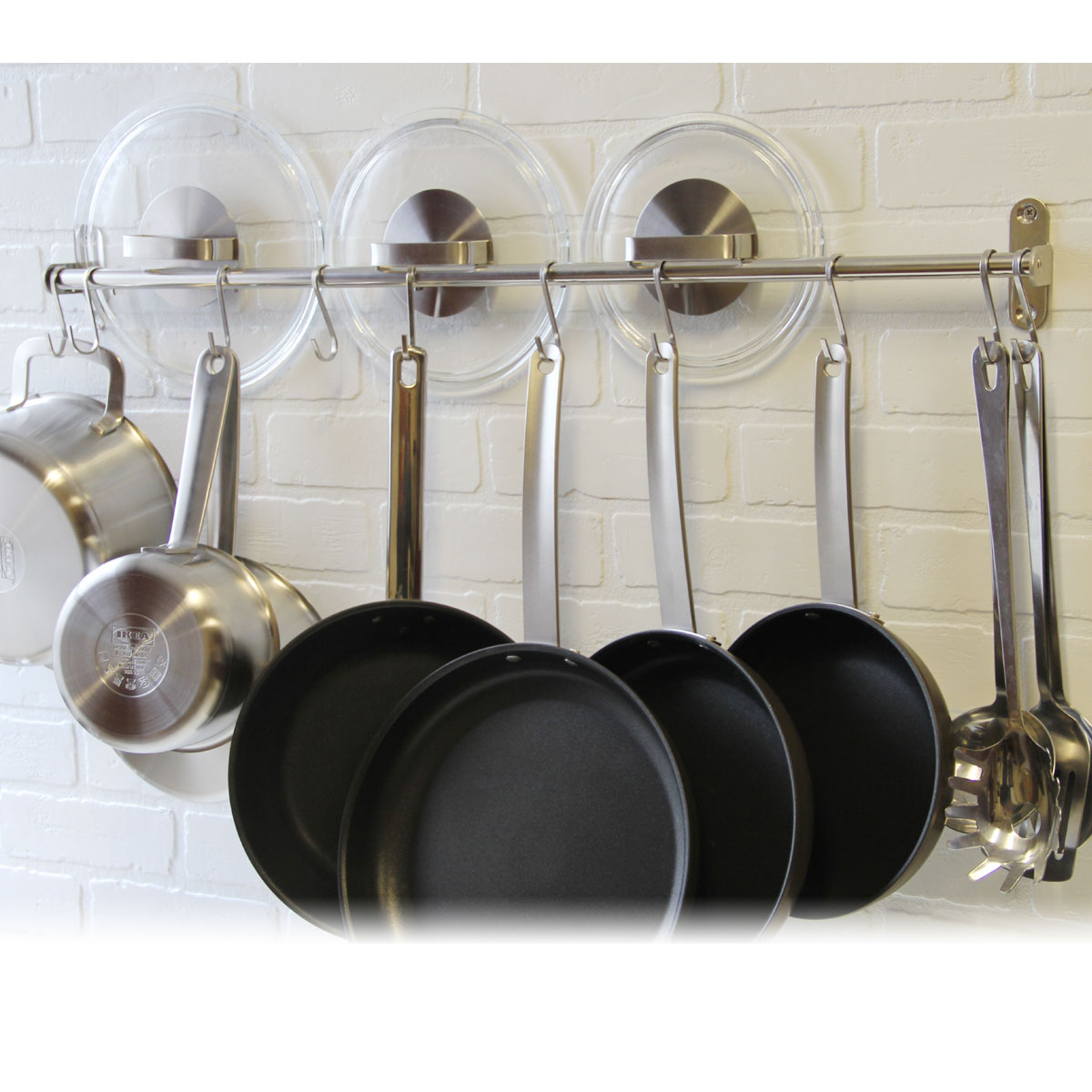 Trends For Wall Mounted Kitchen Utensil Hanging Rack Stainless Steel Images Decor And Ideas
