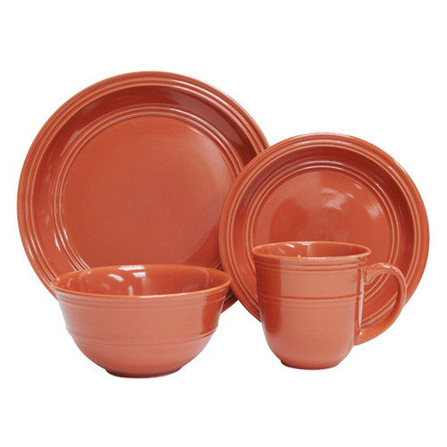 Mainstays 16pc Dinnerware Set Orange Spice  sc 1 st  Walmart.com & Mainstays 16pc Dinnerware Set Orange Spice - Walmart.com