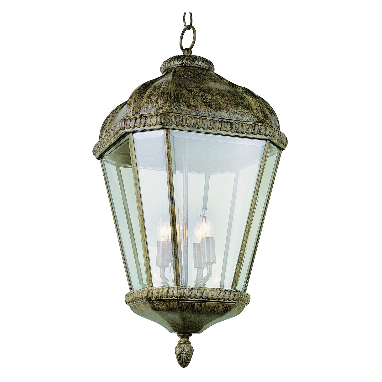 Trans Globe 5156 BRT Hanging Lantern Burnished Rust 13W in. by Overstock