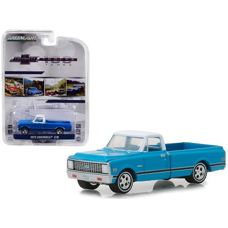1972 Chevrolet C-10 Pickup Truck Blue w/White Top